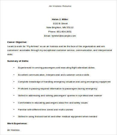 Hostess Resume Template - 9+ Free Word, PDF Documents Download ...
