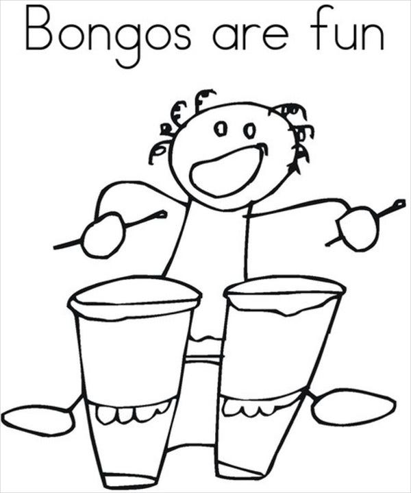 Kindergarten Music Coloring Pages