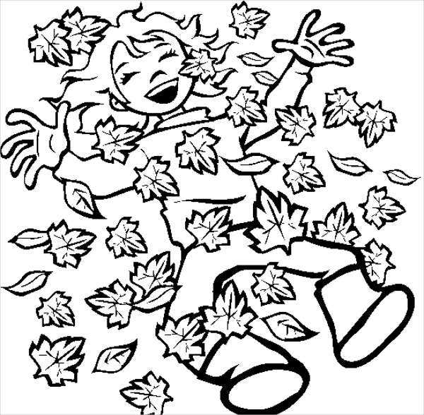 Fall Kindergarten Coloring Pages