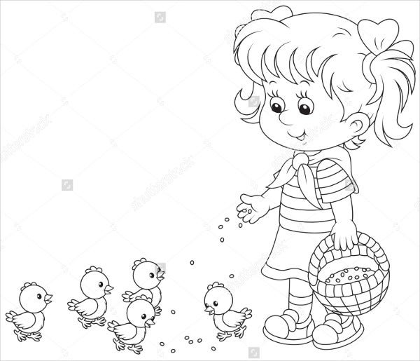9 Kindergarten Coloring Pages Free Psd Vector Jpeg Format