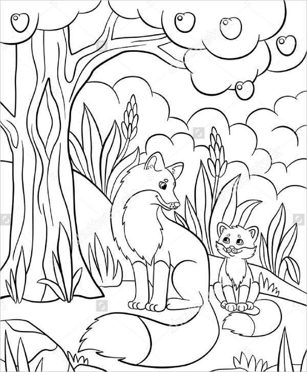animal coloring pages for kindergarten