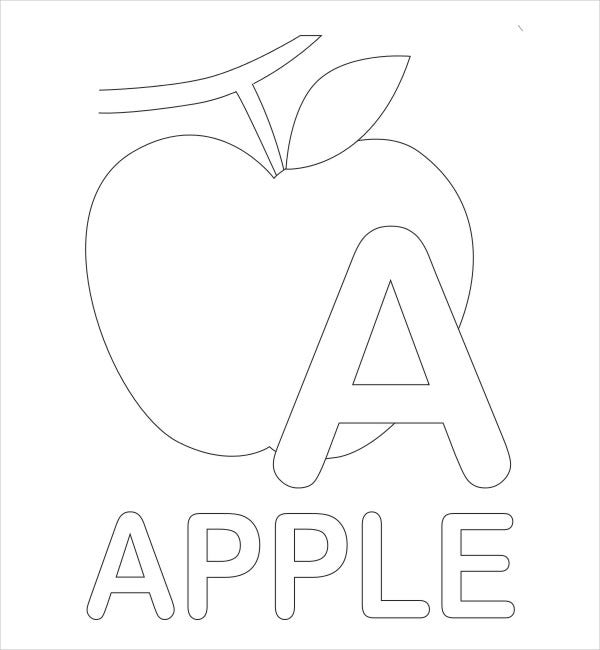 Alphabet Coloring Pages For Kindergarten