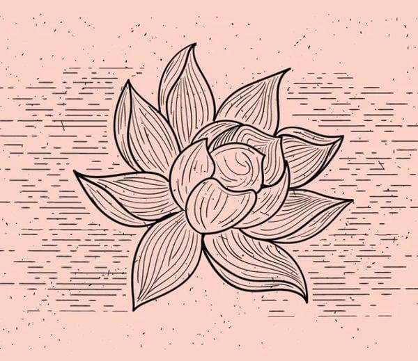 printable flower shape template