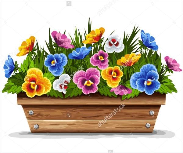 printable flower pot template