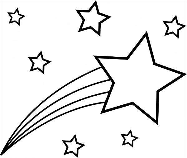 6 Star Coloring Pages Free amp