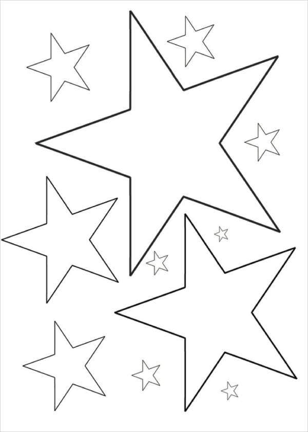 picture regarding Star Coloring Pages Printable identify 6+ Star Coloring Web pages No cost Quality Templates