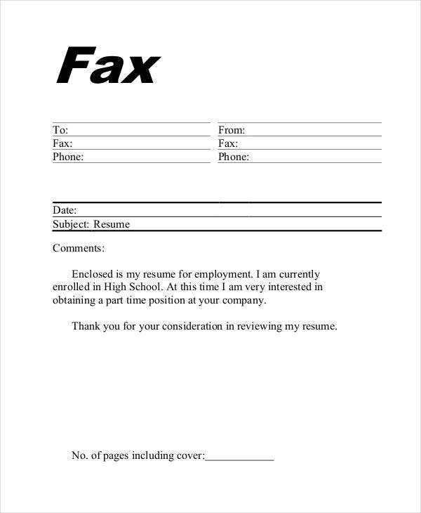 This is an image of Lively Fax Cover Sheet for Resume