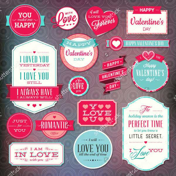 Gift Sticker Label Template