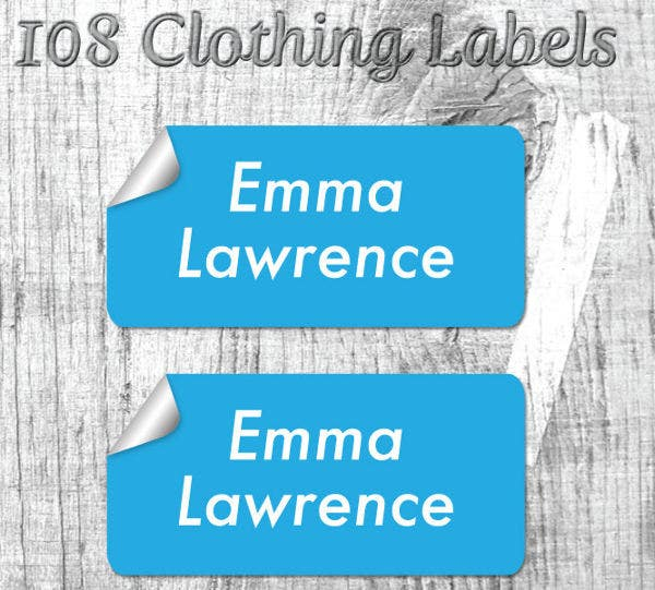 Cloth Sticker Label Template