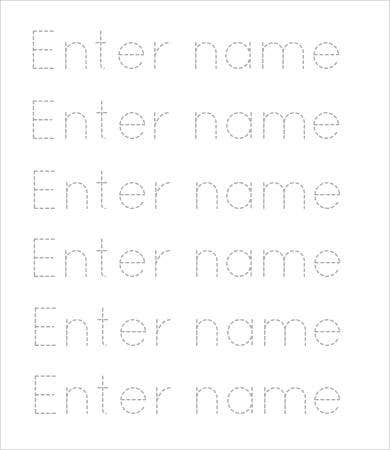 Free printable preschool worksheet 9 free word pdf for Free printable name tracing templates