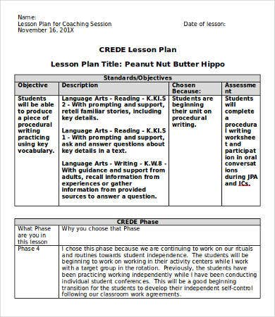 Lesson Plan Template Doc - 9+ Free Word, Documents Download | Free