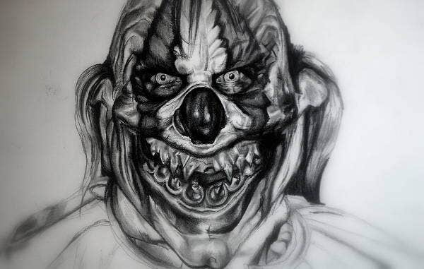 Creepy Clown Drawing