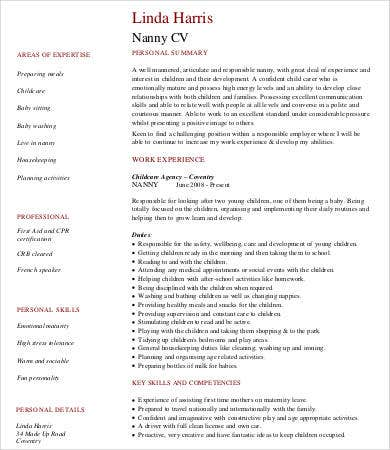 Babysitter Resume - 8+ Free Word, Pdf Documents Download | Free