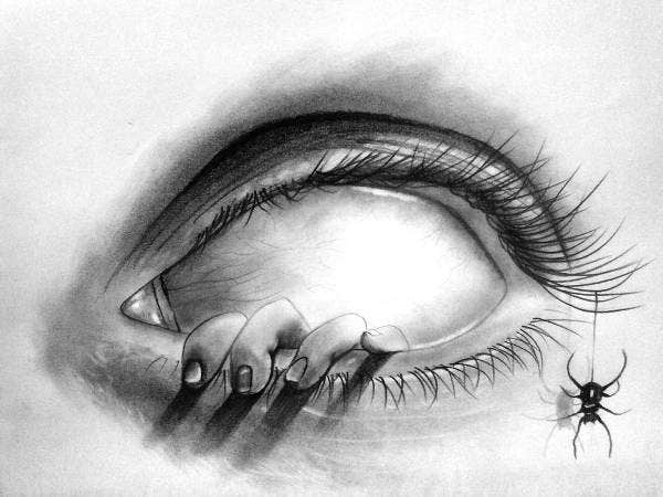 creepy-eye-drawing