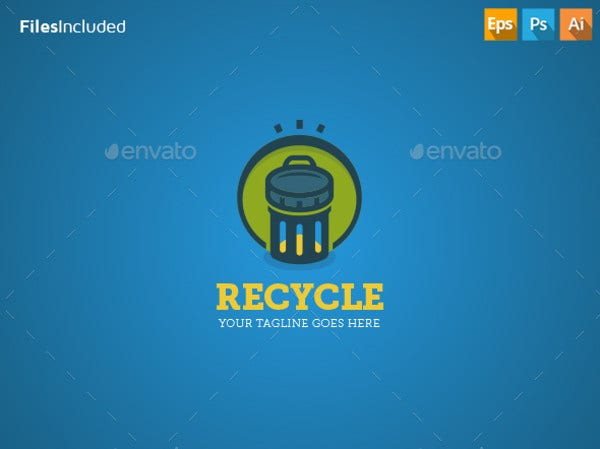 Trash Recycling Logo