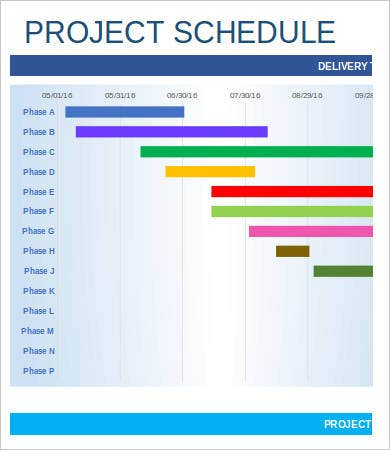 project schedule template 9 free sample example