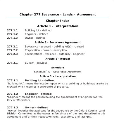 Severance agreement templates 8free word pdf documents download land severance agreement platinumwayz