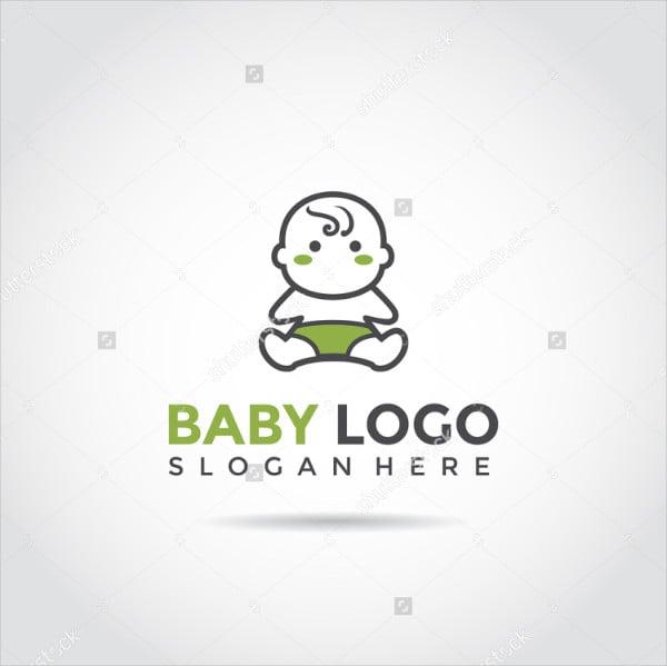 Funny Baby Vector Logo