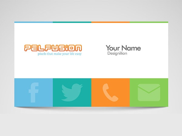 Simple Free Social Media Business Card Template
