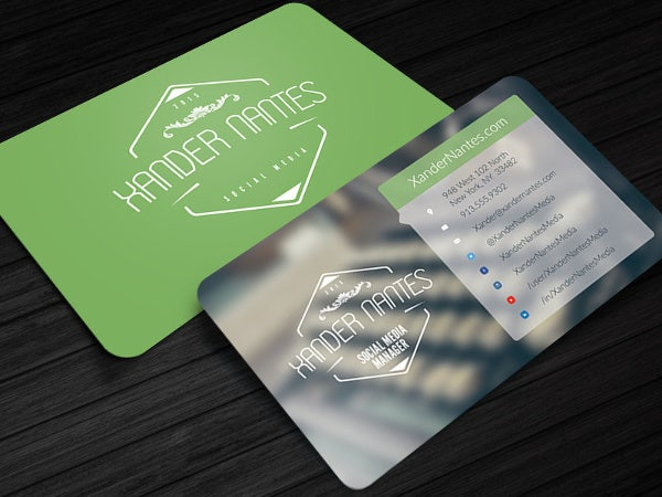 13 example of social media business card free premium templates social media manager business card reheart Images