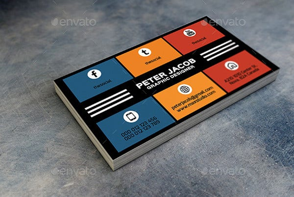 Social Media Business Card For Commercial Use