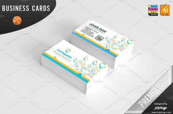 Elegant Social Media Business Card Design