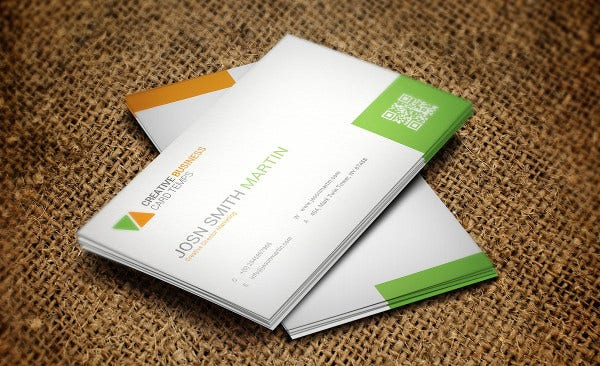 Horizontal Social Media Business Card