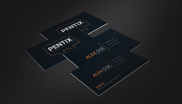 Business Card for Social Media Company