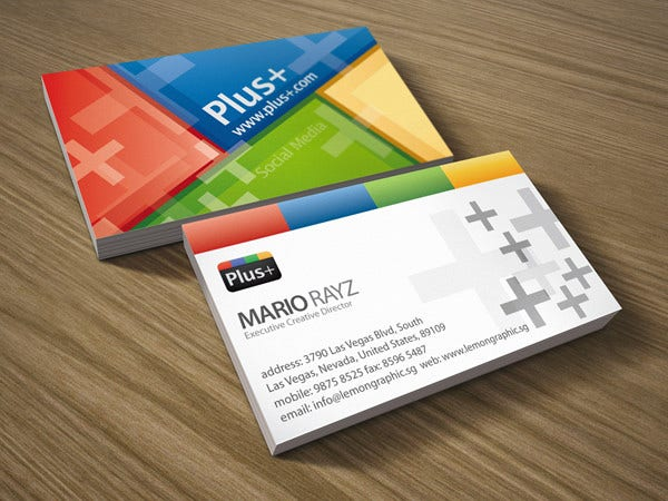 13 example of social media business card free premium templates google social media business card flashek Gallery