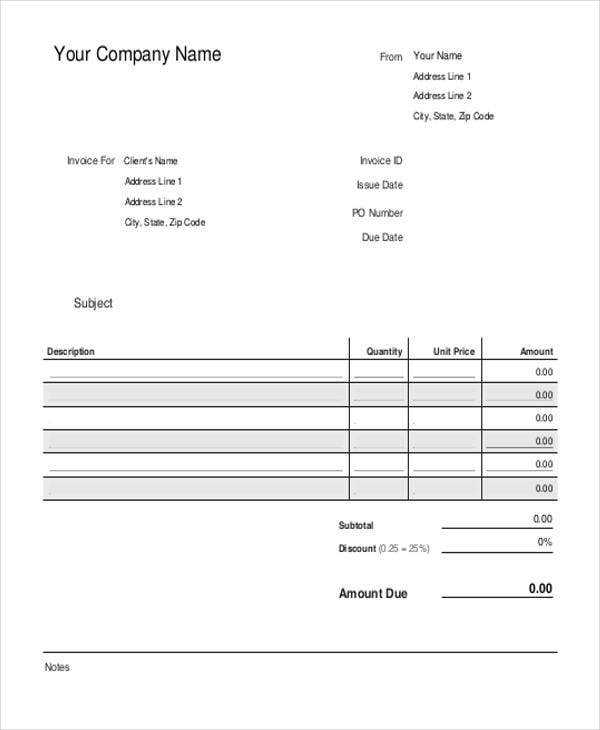 Bakery Invoice Templates Free Word Excel PDF Format Download - Bakery invoice template