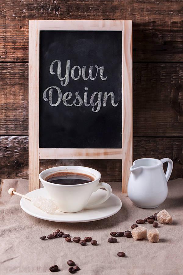 Coffee Chalkboard MockUp
