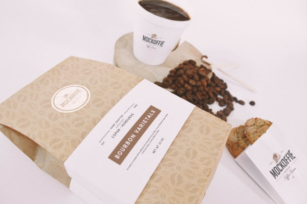 Coffee Bag & Cup MockUp
