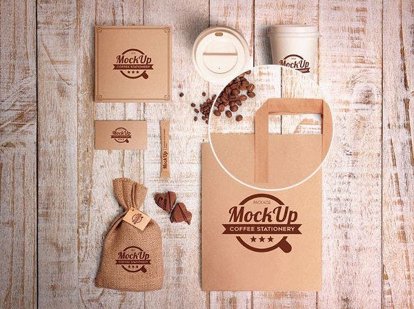 coffee stationary mockup