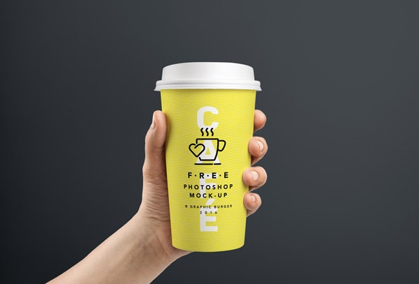PSD Coffee Cup In Hand MockUp