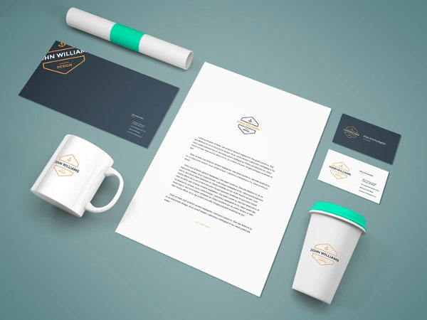 PSD Coffee Stationery Branding MockUp