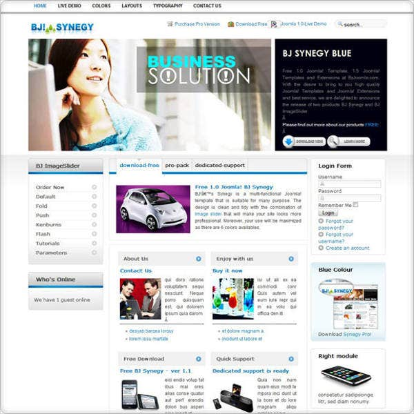 free business joomla template1