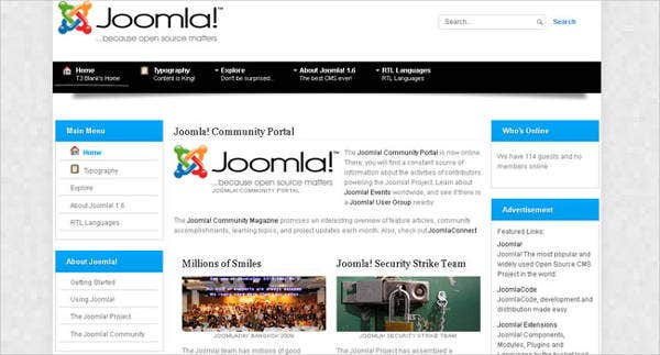 free joomla website template