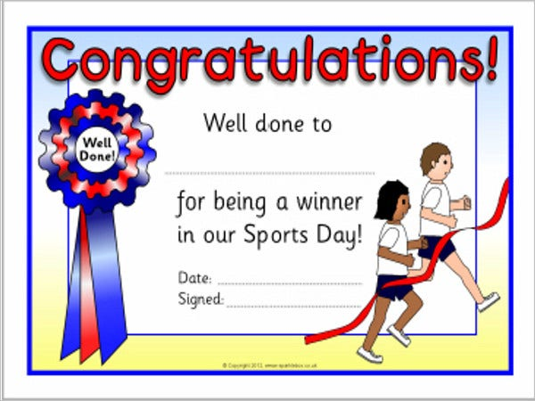 8 sports award templates doc pdf psd free premium for Sports day certificate templates free