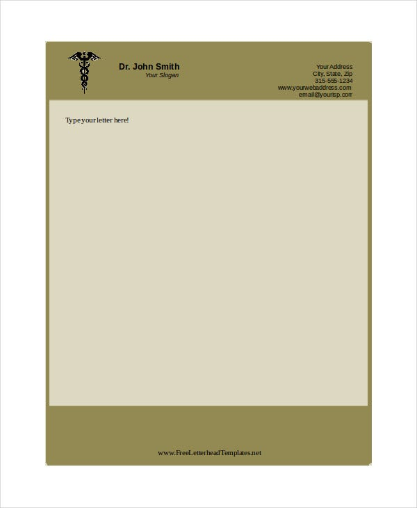 Free letterhead templates 6 free pdf word document for Free letterhead template word