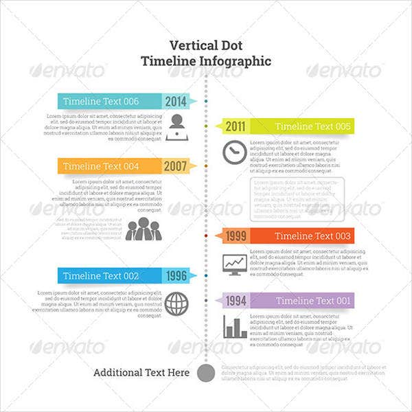 vertical timeline template for students