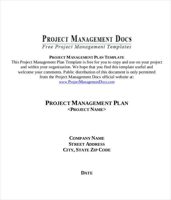 project management plan timeline