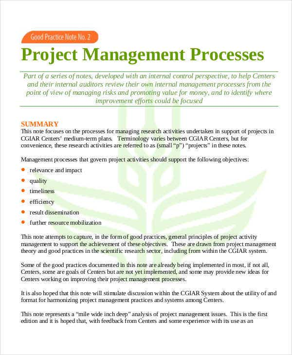 project management process timeline