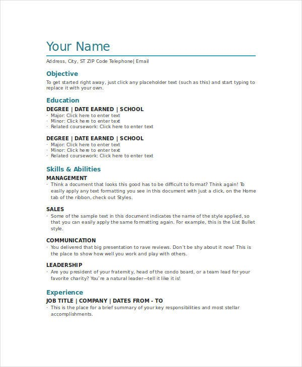 word document resume templates free download curriculum vitae template 2014 2015
