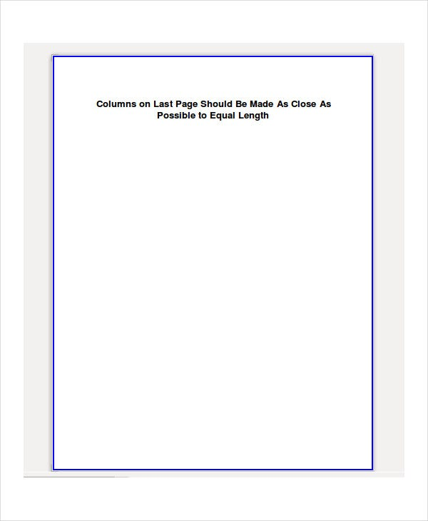 blank word document template