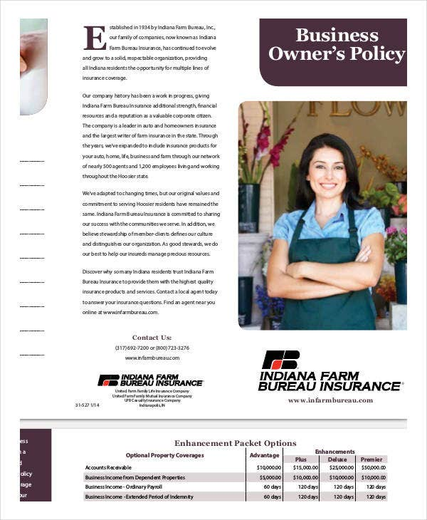 business owners policy template