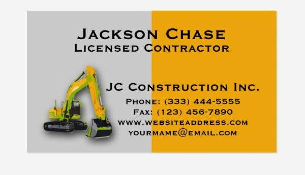 7+ Construction Business Cards - Printable, PSD, EPS, Format ...