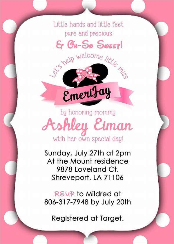 free printable minnie mouse invitation