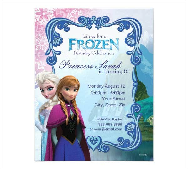 free printable frozen invitation template