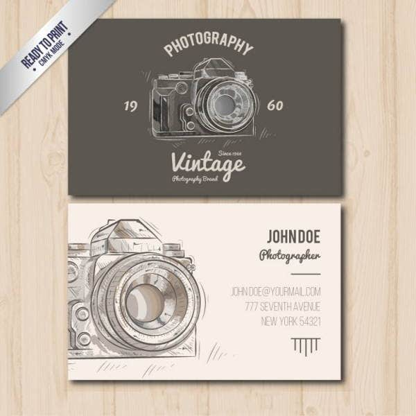 Vintage Photographer Business Card