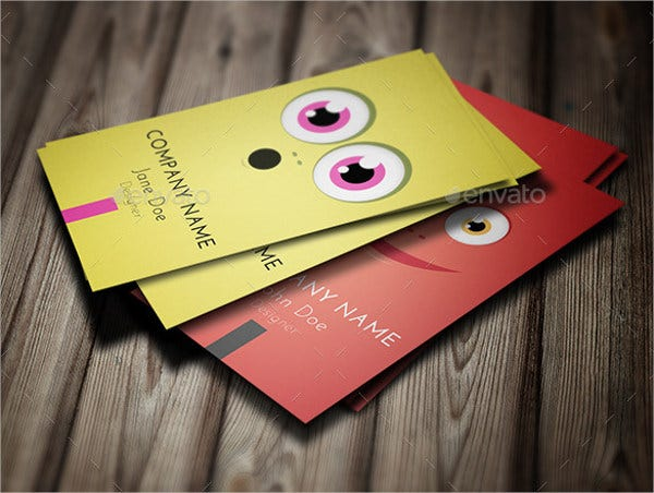 funny character business card